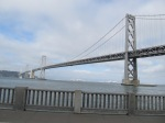 Looking east along the Emperor Norton Bridge.  I hadn't realized quite how long and imposing it is.