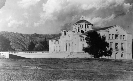 The first building on Caltech's current campus.